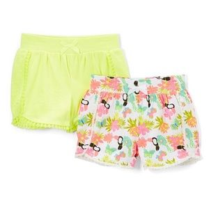 Girl's Lime Time & Happy Summer Toucan Shorts Set